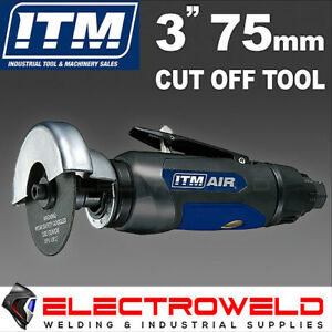 """ITM 3"""" 75mm Air Angle Die Grinder Cut Off Tool Pneumatic + Free Blade, TM340-502"""