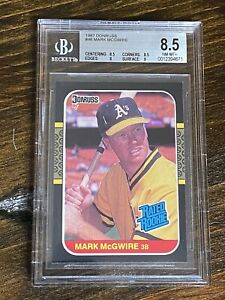Mark McGwire 1987 Donruss Rated Rookie BGS 8.5 (Long Gone Summer)