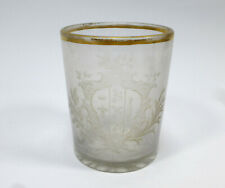 Seltenes Glas mit Wappen Schlesien XVIII Jh. Raffaelli
