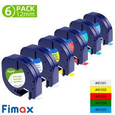 6pk 91330 91331 91332 Compatible Dymo Letratag Refill Label Tape Lt 100h 12 Us