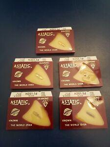 GE needle 4G-O1D DIAMOND TIP FOR LP, FOR VRII CARTRIDGE, ASTATIC N351-1d 5-pack