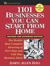 1101 Businesses You Can Start From Home (Wiley Small Business Editions) Hall, D