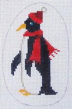 Penguin Hand Painted Needlepoint Canvas