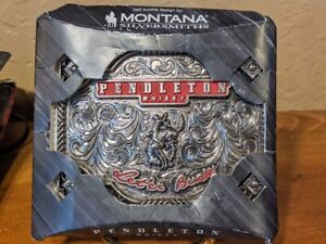 2019 PENDLETON WHISKY WHISKEY BELT BUCKLE MONTANA SILVERSMITHS COWBOY RODEO NFR
