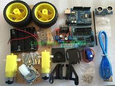 Avoidance Tracking Motor Smart Robot Car Chassis Kit 2WD Ultrasonic For Arduino