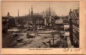 Postcard Central Square in Keene, New Hampshire~137763