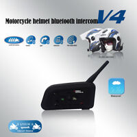 1200M Interphone Motorcycle Motorbike Helmet Bluetooth Intercom Headset 4 Riders