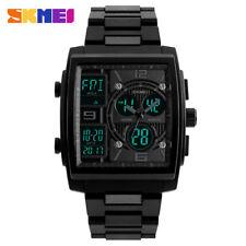 SKMEI LED Digital Chronograph Sport Watch Dual Time Men Quartz Alarm Wristwatch