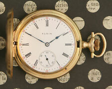 Minty 1910 SOLID 14 KARAT YELLOW GOLD Elgin Size 16 Hunting Case Pocket Watch