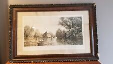 Charles F. W. Mielatz Antique Etching Brookside Willows