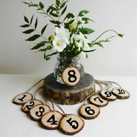 10 PCS WOODEN TABLE NUMBER HANGING TABLE CARDS WEDDING RECEPTION DECOR FUNNY