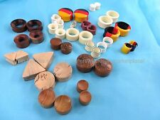 $1 per pair - wholesale 100 pairs Ear Gauges Plugs Body Piercing Jewelry Wooden