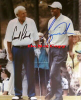 Arnold Palmer & Tiger Woods Dual Signed 8x10 Photo Reprint