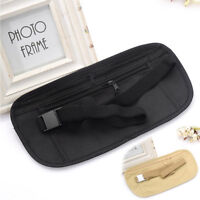 Unisex Waist Belt Zipped Pouch Passport Money Bum Travel Security Bag In_ZT