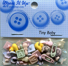 Dress It Up Buttons/Embellishments - Tiny Baby, approx 10mm, pack of approx 28