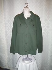Long  Sleeve Button down Swing  Jacket 2XL Old Navy  Green Forest 100% co