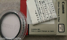 Canon 52 mm filtre photo skylight protection neutre anti - UV Neuf stock France