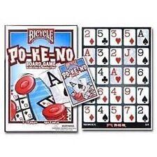 New Pokeno Po-Ke-No 12 Game Boards Cards Chips Bicycle