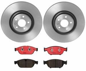 Brembo Front Brake Kit Ceramic Pads Disc Rotors HD For Audi A6 A7 A8 Quattro