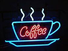 "Coffee Neon Sign Display Cafe Beer Bar Pub Mancave Garage Real Light24""X20"""