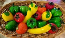 Murano Style Hand Blown Glass Fruit & Vegetables - 23 pieces with 5 mini pieces