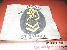 WWII GERMAN NAVAL HARD HAT DIVER ARM BAND 7TH U-BOAT FLOTILLA ST NAZAIRE FRANCE