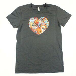 Maroon 5 Women's Heart Logo 2016 Tour Tee American Apparel T-Shirt - Gray- L