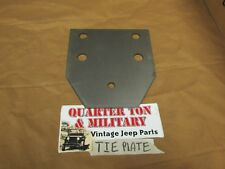 Jeep Willys MB GPW CJ2A CJ3A rear cross member tie plate correct US Made