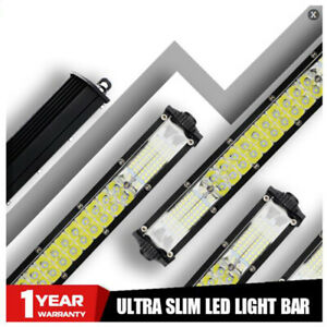 """20"""" 360W Slim Dual Row Combo Spot Flood LED Light Bar Work For JEEP Offroad SUV"""