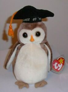 Ty Beanie Baby - WISE the Graduation Owl - MINT with MINT TAGS