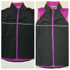 Athleta 2-in-1 Jacket Vest Convertible Black Pink Reflective Women Small Vent
