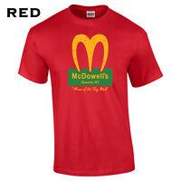 192 Mcdowells Mens T-Shirt college funny movie burger food murphy america cool