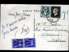 EXODE d'ENFANT en VELO illustré par BERNET / Combinaison de timbres taxe en 1944