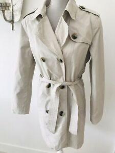 Gap Cream Trench Coat Size M,10,12