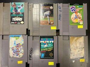 Baseball, 10-Yard Fight, Top Player Tennis & More 6 Cartridge NES Lot