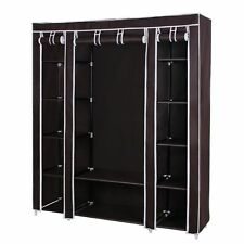 Clothes Wardrobe Closet Organizer Garment Storage Rack Bed Room Shelf Portable