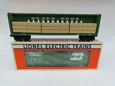 "LIONEL BN #6-16371 CENTER BEAM FLAT EX & 6-6239 ""STD O"" BOX CAR NEW IN BOX"