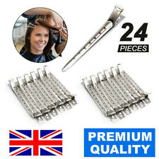 24 Metal Silver Hair Clips Hairdressing Curl Clip Salon Strong Quality Ladies