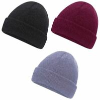 Ladies Womens Pro Climate Knitted Soft Chenille 2.2 Tog Thermal Beanie Hat