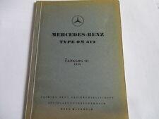 Benz OM 312 LKW Motor Ersatzteilliste Ersatzteilekatalog Teilekatalog ET-Liste