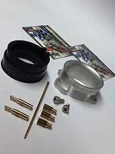 Keihin FCR-MX Carburetor Adapter Kit + Jet Kit + Intake Boot Suzuki DRZ 400 S SM