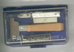 VINTAGE PAL INJECT O MATIC RAZOR  WITH PAPER WORK BLADES AND BLUE BOX