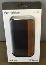 MarBlue Milan Genuine Leather Wallet Case for Galaxy S5 -  Brown S5ML16 *New*
