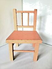 Pink Distressed Wooden Doll Chair Plant Holder Display