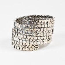 "John Hardy Stering Silver Three Row Flat Coil ""Dot"" Wrap Bracelet"