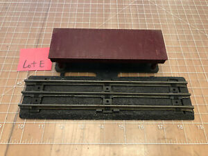 Marx Train RARE Black ROADBED Straight Track w/Connected Freight Platform  Lot E