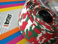 SILVA ITALIAN RED WHITE GREEN MIX CORK HANDLEBAR TAPE WITH END PLUGS RRP £14.95