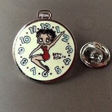 Cute Enamel pin badge Betty Boop watch