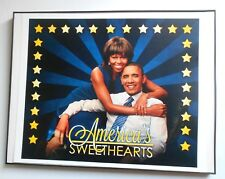 "Obama -  ""America's Sweethearts""  10 x 13""  Ready to Hang  (Framed Mini Poster)"