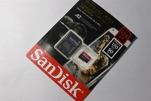Sandisk Extreme Pro 128GB Micro SDXC Memory Card A2 V30 Card - Open Box